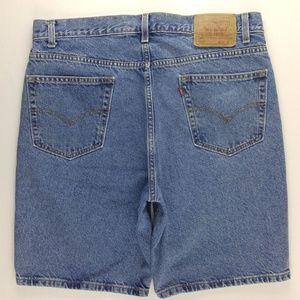 Vintage Levi's 505 Denim Shorts Dad Men's 36 B232